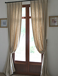 cheap -Ready Made Eco-friendly Curtains Drapes Two Panels For Living Room