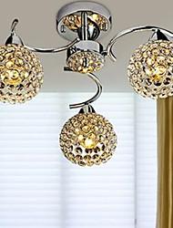 cheap -3-Light 40CM Crystal / LED Chandelier Metal Chrome Modern Contemporary 110-120V / 220-240V / E12 / E14