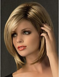 cheap -new short blonde mix with side bang straigt party women full wig