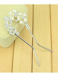 Недорогие -Южнокорейская волосы расчесывает невесты U-образный зажим шпилька гребня пробурить две цветы с двойной иглой поворот