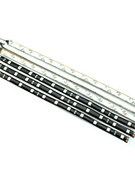 cheap -0.3m LED Light Strips Waterproof Tiktok Lights 12LED LEDs White Red Blue Flexible 12 V IP44