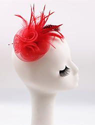 cheap -Feather / Polyester Fascinators with 1 Wedding / Special Occasion / Casual Headpiece