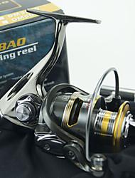 cheap -Fishing Reel Spinning Reel 5.2:1 Gear Ratio+12 Ball Bearings Hand Orientation Exchangable Sea Fishing / Bait Casting / Ice Fishing - DM4000 / Freshwater Fishing / Carp Fishing / Bass Fishing