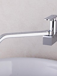 cheap -Copper Kitchen Sink Faucet,Waterfall Chrome Widespread Rotatable Single Handle One Hole Kitchen Taps with Ceramic Valve Cold Water Only