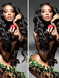cheap -Human Hair Full Lace Wig style Brazilian Hair Wavy Body Wave Wig 130% Density with Baby Hair Natural Hairline African American Wig 100% Hand Tied Women's Short Medium Length Long Human Hair Lace Wig