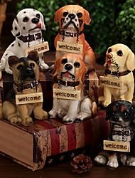 Недорогие -Добро пожаловать знак stitting собака рисунок улыбается щенок кафе украшение дома (случайный цвет)
