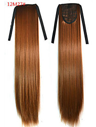 cheap -Straight Synthetic Hair Piece Hair Extension 18 inch #12