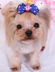 cheap -Cat / Dog Hair Accessories / Hair Bow Red / Yellow / Blue Dog Clothes Spring/Fall Wedding / Cosplay