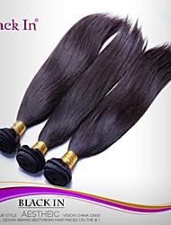 cheap -3 Bundles Brazilian Hair Straight Human Hair Natural Color Hair Weaves / Hair Bulk Human Hair Weaves Human Hair Extensions