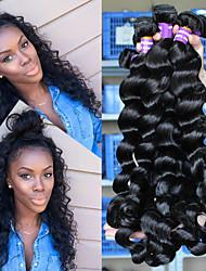 Недорогие -3 Связки Бразильские волосы Свободные волны 500 g Человека ткет Волосы Ткет человеческих волос Расширения человеческих волос