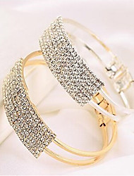 cheap -Women's Bracelet Bangles Tennis Bracelet Ladies Casual Fashion Rhinestone Bracelet Jewelry Gold / Silver For Daily