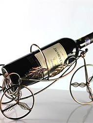 Недорогие -металл пружинным 4 колеса в форме вино держатель для бутылки стойки барная стойка для хранения стенд (случайный цвет)