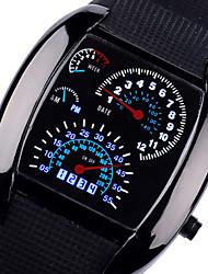 cheap -Men's Wrist Watch Quartz Silicone Black / Brown Cool Analog Black Brown Two Years Battery Life / Panasonic CR2016