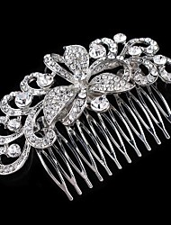 cheap -Rhinestone Hair Combs with 1 Wedding / Special Occasion Headpiece