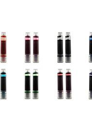 Недорогие -2шт набор чернильных ручек картриджи заправки зеленый фиолетовый синий оранжевый