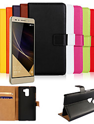 cheap -Case For Huawei Honor 7 / Huawei Huawei Honor 7 / Huawei Wallet / Card Holder / with Stand Full Body Cases Solid Colored Hard PU Leather