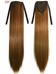 cheap -Straight Synthetic Hair Piece Hair Extension 18 inch #18