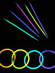 cheap -100pcs Glow Light Sticks Party Colored Glowstick Fluorescence Rings