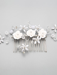 cheap -Imitation Pearl / Alloy Hair Combs / Headwear with Floral 1pc Wedding / Special Occasion Headpiece