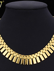 cheap -Women's Collar Necklace Necklace Geometrical Ladies Vintage Party Work 18K Gold Plated Platinum Plated Gold Plated Gold Silver Necklace Jewelry For Special Occasion Birthday Gift