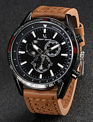 Недорогие -V6 Муж. Наручные часы Авиационные часы Кварцевый Японский кварц Кожа Черный / Коричневый / Хаки Повседневные часы Аналоговый Кулоны - Черный Коричневый Хаки Два года Срок службы батареи