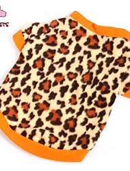Недорогие -Кошка Собака Футболка Толстовка Зима Одежда для собак Коричневый Костюм Флис Леопард Мода XS S M L