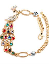 cheap -Women's Crystal Chain Bracelet Cross Peacock Bohemian Romantic Crystal Bracelet Jewelry For Daily Casual / Rhinestone
