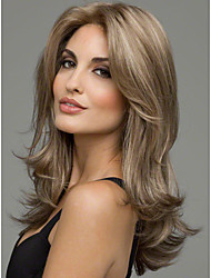 cheap -Synthetic Wig Wavy Wavy Wig Blonde Medium Length Synthetic Hair Women's Blonde StrongBeauty