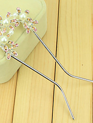 cheap -South Korean Hair Combs The Bride U-Shaped Clip Hairpin Of Three Little Flower Double Needle Inserted Comb  Twist
