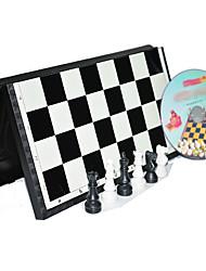 Недорогие -3d международный стандарт в шахматы с магнитной складной настольной игры набор (случайный цвет)