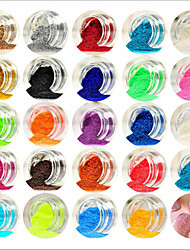 cheap -Acrylic For Finger Toe Lovely / 24 Colors nail art Manicure Pedicure Abstract / Classic / Wedding Daily