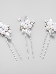cheap -Imitation Pearl / Rhinestone / Alloy Headwear / Hair Pin with Floral 1pc Wedding / Special Occasion Headpiece