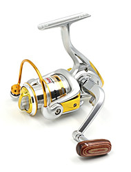 cheap -1000 Size Silver 5.2:1 10+1 Ball Bearings Freshwater Fishing Carp Fishing Spinning Reels Left and Right Handle