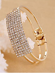 cheap -Women's Vintage Bracelet Fashion Rhinestone Bracelet Jewelry Golden / Silver For Casual