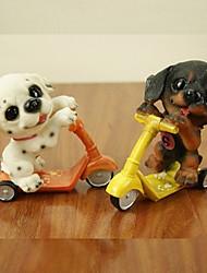 Недорогие -милая собака движения смолы езда на скейтборде скутер домой кафе-деко (случайный цвет)