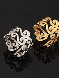 cheap -Women's Band Ring Adjustable Ring thumb ring Gold Silver Platinum Plated Gold Plated Alloy Ladies Unusual Unique Design Party Anniversary Jewelry Wave Cute Adjustable