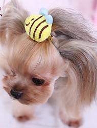Недорогие -Коты / Собаки Бант / Аксессуары для шерсти Желтый Одежда для собак Весна/осень Свадьба / Косплей