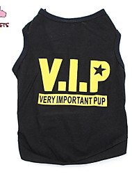 cheap -Cat Dog Shirt / T-Shirt Dog Clothes Black Costume Cotton Stars Letter & Number Cosplay Wedding XS S M L