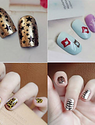 cheap -1 pcs 3D Nail Acrylic Molds Template Lovely nail art Manicure Pedicure Flower / Abstract / Cartoon Daily / Punk / Metal