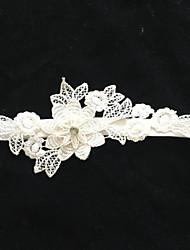 Недорогие -Стретч-сатин Мода Свадебный подвязка С Цветы Подвязки