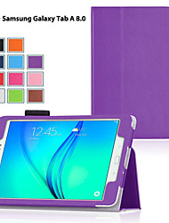cheap -Phone Case For Samsung Galaxy Tab A 8.0 Tab A 9.7 Full Body Case with Stand Flip Solid Colored PU Leather