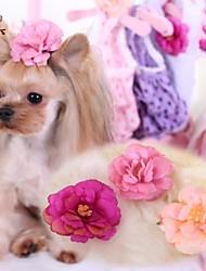 Недорогие -Коты / Собаки Аксессуары для шерсти / Бант Розовый / Розоватый Одежда для собак Весна/осень Свадьба / Косплей