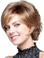cheap -Synthetic Wig Curly Curly Wig Blonde Short Synthetic Hair Women's Blonde StrongBeauty