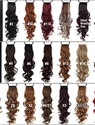 Недорогие -Конские хвостики Волосы Кудрявый Классика Искусственные волосы 24 дюймы Наращивание волос Повседневные