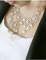 cheap -Cheap Statement Party Alloy Gold White Necklace Jewelry For