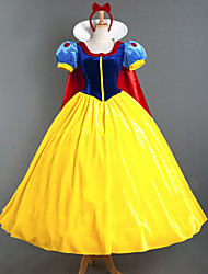 cheap -Princess Fairytale Cosplay Costume Women's Movie Cosplay Yellow Dress Headpiece Cloak Halloween New Year Satin Velvet / More Accessories / More Accessories