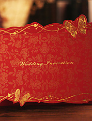 cheap -Tri-Fold Wedding Invitations Invitation Cards Butterly Style Card Paper
