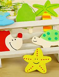 Недорогие -Набор из 12 деревянных разноцветных различных мультфильм формы магнитов для холодильника (случайный цвет)
