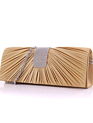 cheap -Women's Bags Silk Evening Bag / Cover for Wedding / Event / Party / Formal Silver / Beige / Fuchsia