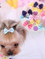 cheap -Cat Dog Hair Accessories Hair Bow Dog Clothes Yellow Blue Pink Costume Mixed Material Cosplay Wedding